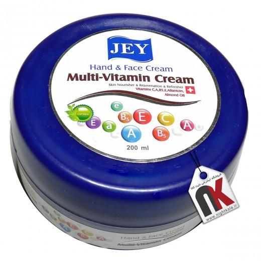 کرم دست و صورت جی مدل Multi-Vitamin حجم 200 میلی لیتر