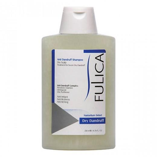 شامپو فولیکا ضد شوره برای موهای خشک حجم 200 میلی لیتر