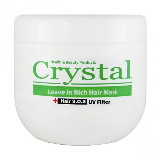 ماسک موی کریستال مغذی بدون آبکشی حجم 500 میلی لیتر