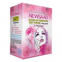 دستمال مرطوب پاک کننده آرایش نیوساد جعبه ای مخصوص پوست های حساس 12 عددی