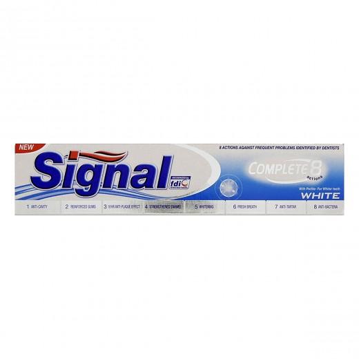 خمیر دندان سیگنال مدل Complete 8 Action White حجم 100 میلی لیتر