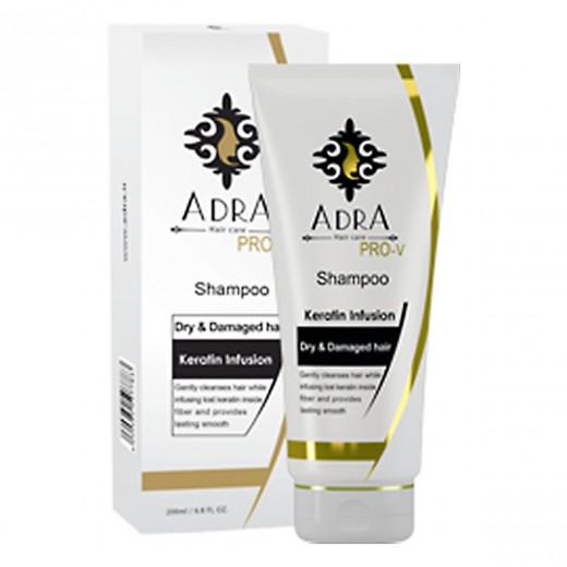 شامپو آدرا کراتینه مخصوص موهای خشک و آسیب دیده حجم 200 میلی لیتر