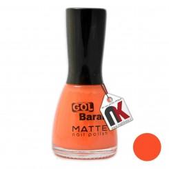 لاک ناخن مات گلباران شماره 705 رنگ نارنجی